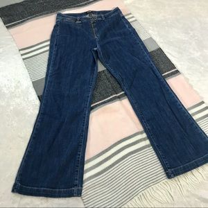 Paige 28 kick flares crop high rise waisted jeans